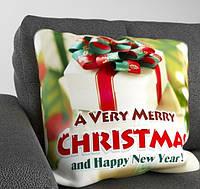 "Декоративная подушка ""A Very Merry Christmas and Happy New Year"""