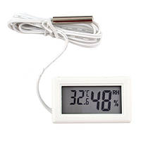Компактный термометр / гигрометр с наружным термодатчиком wsd-12, работает от литиевой батарейки lr44