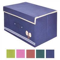 """Ящик ПВХ для хранения вещей """"Бантик"""" 44*34*24 см (Арт.R15520)"""