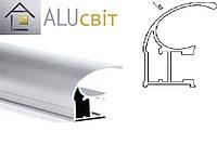 Вертикальный C - профиль эконом  серебро купе ручка открытый