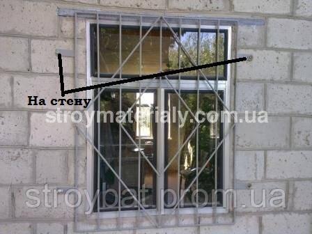 установка решетки на стену