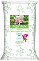 Детские влажные салфетки очищающие с кремом Mama&Baby 10 шт.