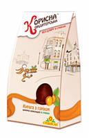 Шоколадные конфеты Курага с орехом в шоколаде Стевиясан, 150 грамм