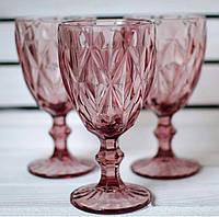 """Бокалы из цветного стекла """" Кубок"""" изумруд синий. Цветные бокалы, винтажные бокалы для вина"""