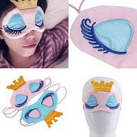 Маска на глаза для сна Спящая принцесса (розовый)