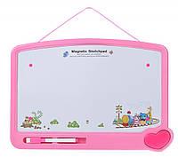 Same Toy Магнитная доска для обучения (розовая)