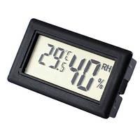 Небольшой термогигрометр wsd-12a, с встраиваемым корпусом, жк-дисплеем, работает от литиевой батарейки