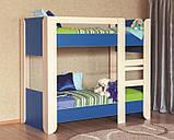Двухъярусная кровать детская розовая Денди, фото 3
