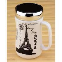 """Термокружка керамическая """"Travel Cup""""  Париж 550 мл."""