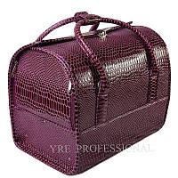 Чемодан профессиональный со съемным органайзером, фиолетовый лаковый