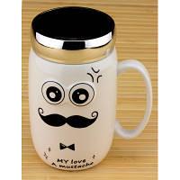 Термокружка керамическая MR Mustache 550 мл. 2 вида