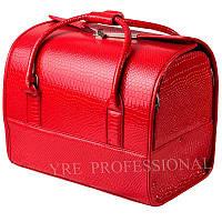 Чемодан профессиональный со съемным органайзером, темно красный лаковый