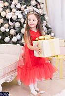 """Очень красивое нарядное детское платье """"Снежинка"""""""