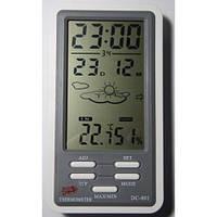 Метеостанция домашняя dc-801, термогигрометр, часы, будильник, дата, прогноз погоды, большой жк-дисплей 4