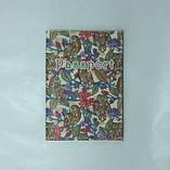 Обкладинка на Паспорт / Сови кольорові / Кожзам, фото 3