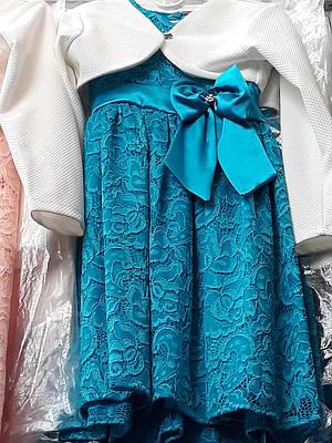 Детское нарядное гипюровое платье с болеро