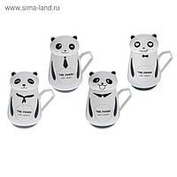 Кружка-чашка с крышкой Панда (4 вида) 450 мл