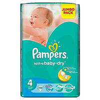 Подгузники 4 Maxi 8-14кг 70шт Active baby-dry Jumbo Pampers 1/1