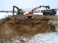 Земляные работы, рытье котлованов под фундамент коттеджей, устройство канализации