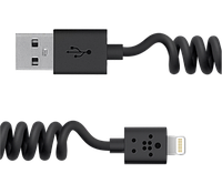Кабель Belkin USB-Lightning (8 pin) для iPhone 5 / 6 / 7, гибкий (пружиной)