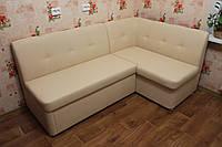 Раскладной угловой диванчик в кухню (Молочный), фото 1