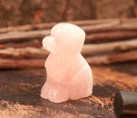 Собака статуэтка из розового кварца