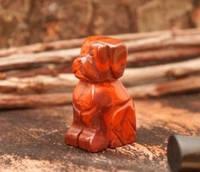 Собака статуэтка из красной яшмы