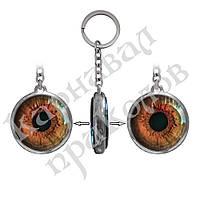 Брелок двухсторонний Глаз красный, фото 1