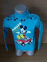 """Гольфик на кнопочках для мальчиков с начесом """"Minnie Mouse"""""""
