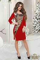 Платье Новогоднее красное Роскошная паетка +