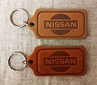 Автомобильный брелок Nissan (Ниссан), брелки для автомобильных ключей, автобрелки, брелок кожаный