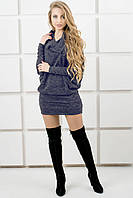 Молодежное платье-туника Шерли (синий), фото 1