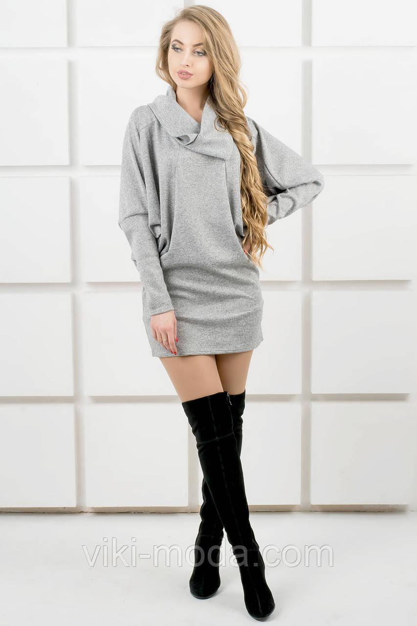 Молодежное платье-туника Шерли (серый)