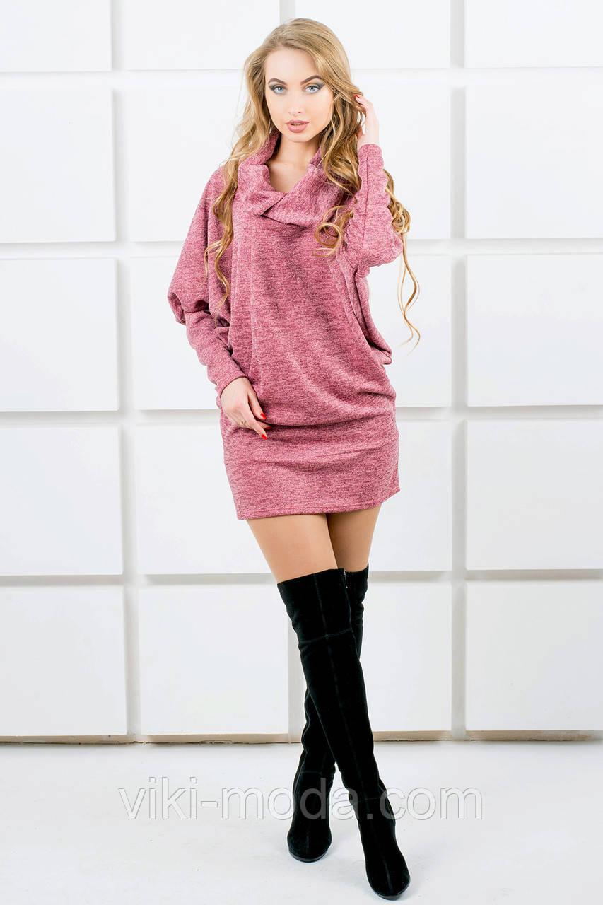 Молодежное платье-туника Шерли (розовый)