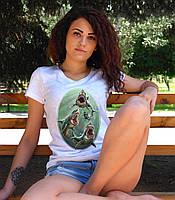 """Женская футболка """"Акулы"""""""