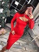 Платье Стильное маленькое красное платье+