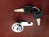 Замок металевий, в комплекті ключ(2шт.)+ гайка, фото 2