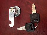 Замок металевий, в комплекті ключ(2шт.)+ гайка, фото 3