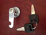 Замок металевий, в комплекті ключ(2шт.)+ гайка, фото 4