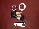 Замок металевий, в комплекті ключ(2шт.)+ гайка, фото 5