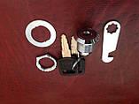 Замок металевий, в комплекті ключ(2шт.)+ гайка, фото 6