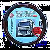 Чехол на руль грузового автомобиля черного цвета, декорирован под дерево, 44-46 см, артикул: 8711252548357