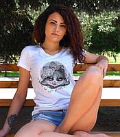 "Женская футболка ""Кошечка"""