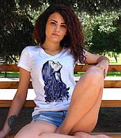 """Женская футболка """"Красивая девушка"""""""