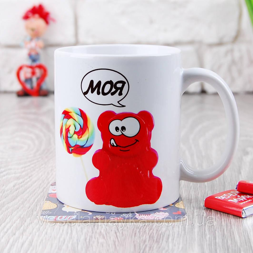 Чашка Желейный медведь Валера и Конфета