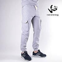 Теплые спортивные карго штаны - Savea, серые