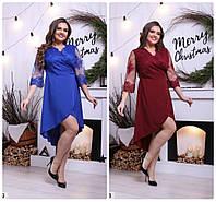 Женское нарядное платье батал на новый год  р. 50-64Николаев