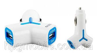 Автомобильное зарядное устройство (АЗУ) - OZIO Y10 2 USB (800/2100 мА)