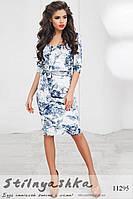 Велюровое платье серебро с синим, фото 1