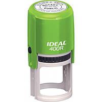 Оснастка для круглой печати Ideal 400R, диаметр 40 мм, корпус пластиковый зеленый
